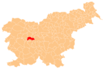 The location of the Municipality of Dobrova–Polhov Gradec