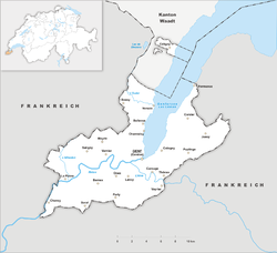 Map of the Canton of Geneva