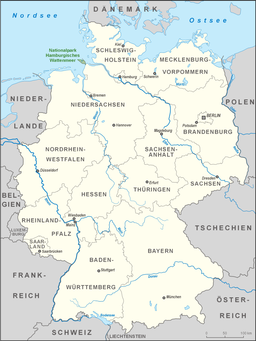 Map showing the location of Hamburg Wadden Sea National Park