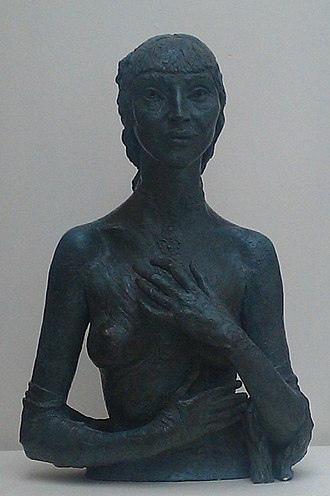 Kathleen Garman - Bronze sculpture of Kathleen Garman by Jacob Epstein, titled Kathleen and made in 1935, while she was his mistress, now at Bristol City Museum and Art Gallery