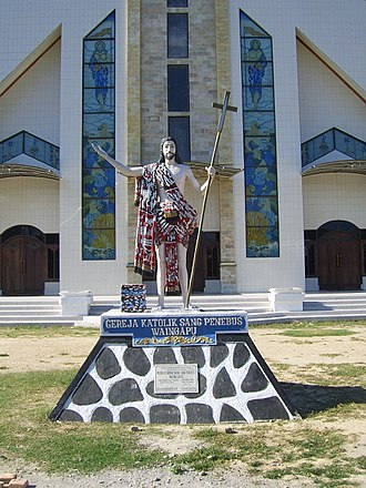 Sumba - Catholic church in Waingapu, East Sumba Regency