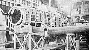 Kawasaki Ki-88 - The mock-up of the Kawasaki Ki-88 in 1943.