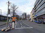 Ke Štvanici, při rekonstrukci tramvajové smyčky Florenc.jpg