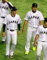Kenta Maeda and Hirokazu Sawamura on November 21, 2015.jpg