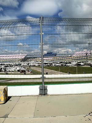 Kentucky Speedway - View of the track from outside turn 3.