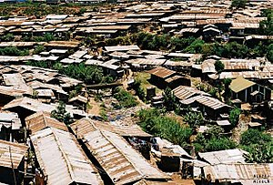 English: Slum Kibera in Nairobi, Kenya.