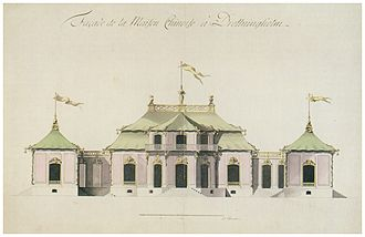 Chinese Pavilion at Drottningholm - Drawing by Carl Fredrik Adelcrantz, 1763.