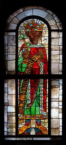 Vetrata di re David nel duomo di Augusta in Germania, del 1130 circa