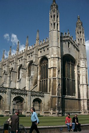 King's Parade - Image: Kings College, Cambridge, Chapel (front)