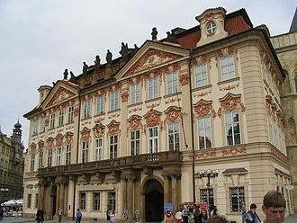 Kilian Ignaz Dientzenhofer - Kinsky Palace. Prague