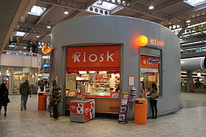 Kiosk Fast food kiosk, Den Haag central station