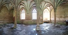 Panoramic photograph of the chapter house, east wall