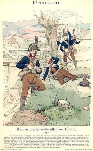 Ernst von Rüchel - Prussian grenadiers 1807