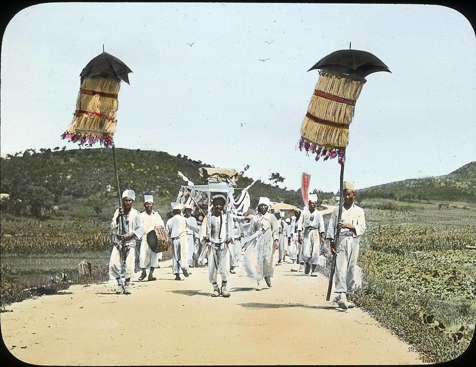 Korean funeral, Korea, (s.d.) (Taylor box45num18)