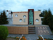 Kovel Volynska-memorial in honor of the locomotive depot workers who died during wars-central monument.jpg