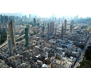 Kowloon City - Aerial view of Kowloon City