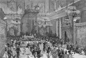 1881 in Sweden - Kronprins Gustavs och Viktorias av Baden förmälning 1881 - Nordiska Museet - NMA.0051136