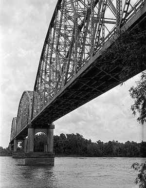 Krotz Springs, Louisiana -  Krotz Springs Bridge spanning the Atchafalaya River.