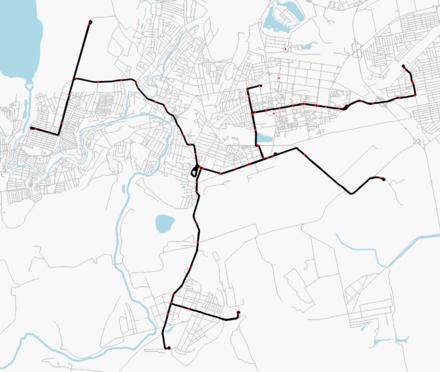 Схема криворожского трамвая