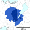 A map of Kyoto metropolitan area as of 2015