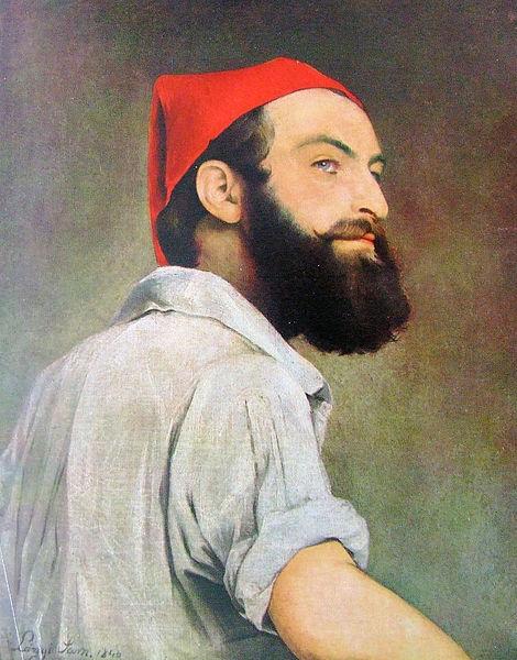 """> Galerie Nationale Hongroise à Budapest avec un hipster avant l'heure """"Autoportrait"""" de Sámuel Lányi."""