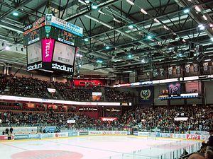 Löfbergs Arena - Löfbergs Arena during period break