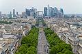 La Défense from the Arc de Triomphe, Paris 14 June 2015.jpg