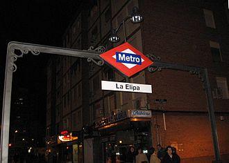 La Elipa (Madrid Metro) - Image: La Elipa