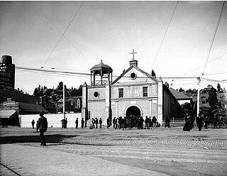 La Iglesia de Nuestra Señora la Reina de los Ángeles original church of Los Angeles, California