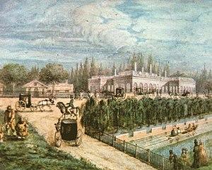 Avenida Sarmiento - Rosas house in 1850.