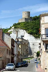 La Roche-Guyon, the castle and the keep