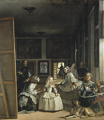 La familia de Felipe IV o Las Meninas %28Vel%C3%A1zquez%2C Museo del Prado de Madrid%2C 1656%29