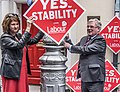Labour Party Leader Eamon Gilmore, Deputy Leader Joan Burton and Labour TD John Lyons launched Labour's latest Stability Treaty poster today (7234436250).jpg
