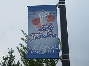 Louisiana Tech Bulldogs and Lady Techsters - Lady Techsters 3 National Titles Banner