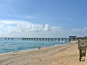 Lake Worth Pier in Palm Beach County, Florida.