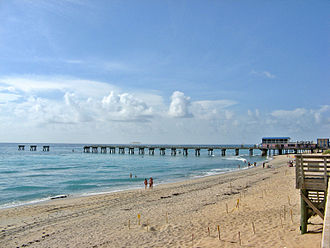Lake Worth, Florida - Lake Worth Pier, damaged by Hurricane Frances, Jeanne and Wilma