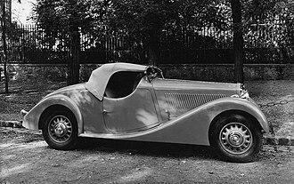 Lancia Augusta - Lancia Belna roadster Pourtout