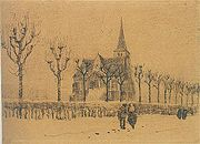 Landscape with a church - Vincent van Gogh - dec 1883 - F1238 JH435.jpg