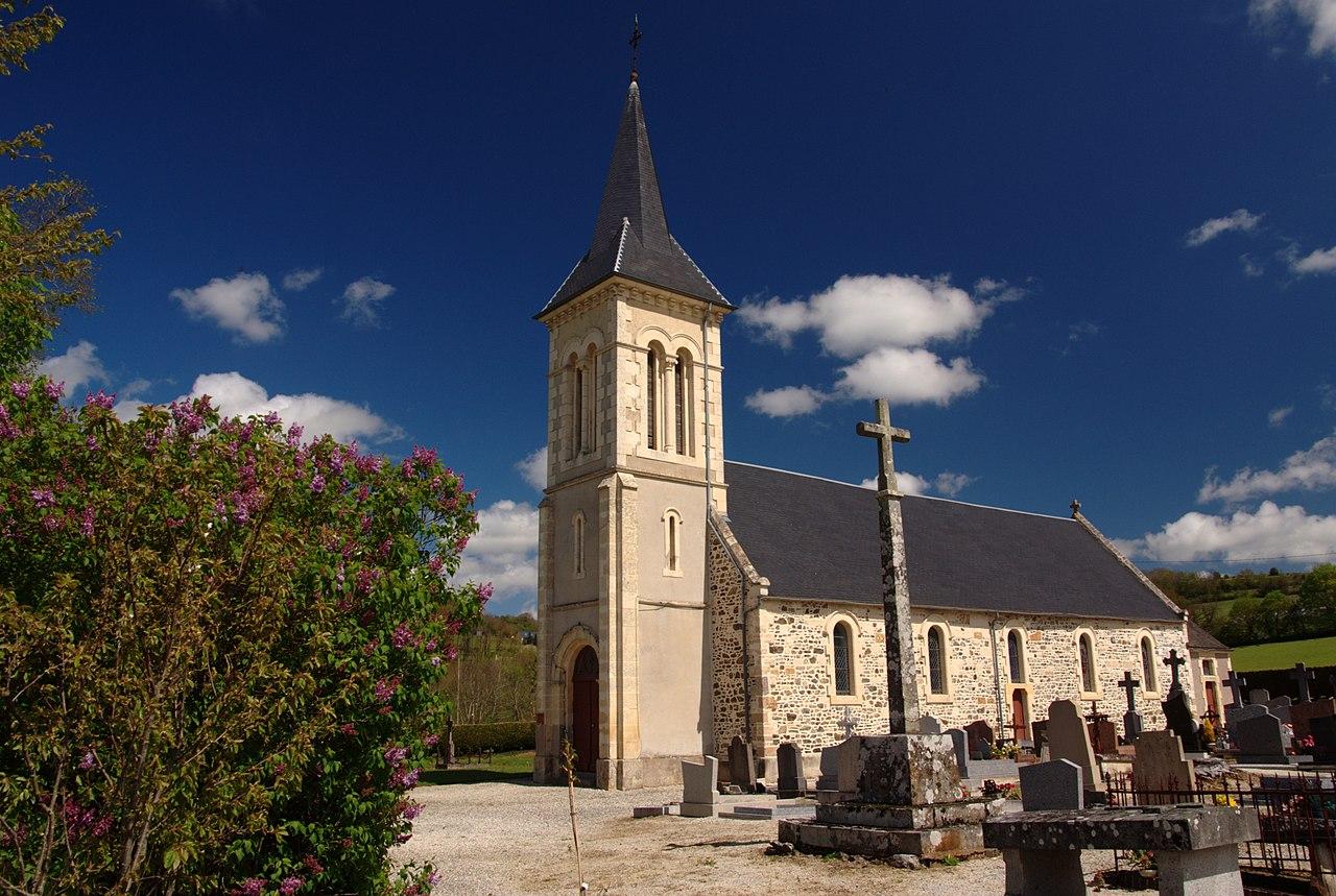 L'église de Cossesseville.