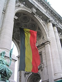 Large Belgian flag at Jubelpark.JPG
