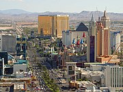 The south end of the Las Vegas Strip in 2003.