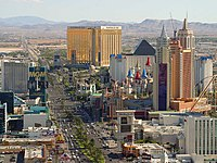 Nevada's booming economic center of Las Vegas