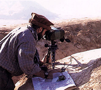 Laser designator - Portable unit directing bombing in Afghanistan, 2001