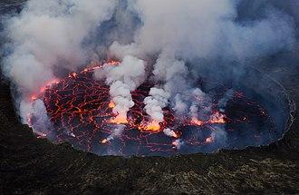 Mount Nyiragongo - Nyiragongo's lava lake