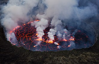 Lava lake - Lava lake in Nyiragongo, in a molten state