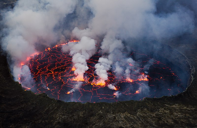 Nyiragongo Volcano Eruption File:Lava Lake ...
