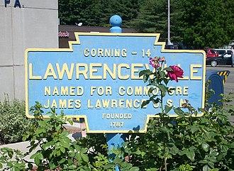 Lawrenceville, Pennsylvania - Image: Lawrenceville, PA Keystone Marker