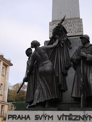 Czechoslovakism - Monument to the Czechoslovak Legions of World War I, Palacky square, Prague
