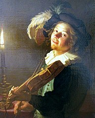 Violin Player by Candlelight