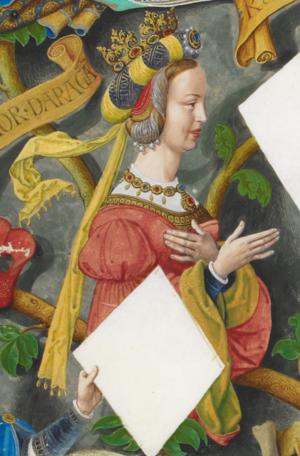 Eleanor of Alburquerque - Image: Leonor Urraca de Castela, la Rica Hembra The Portuguese Genealogy (Genealogia dos Reis de Portugal)